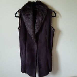 J. McLaughlin Faux Fur Lined Vest